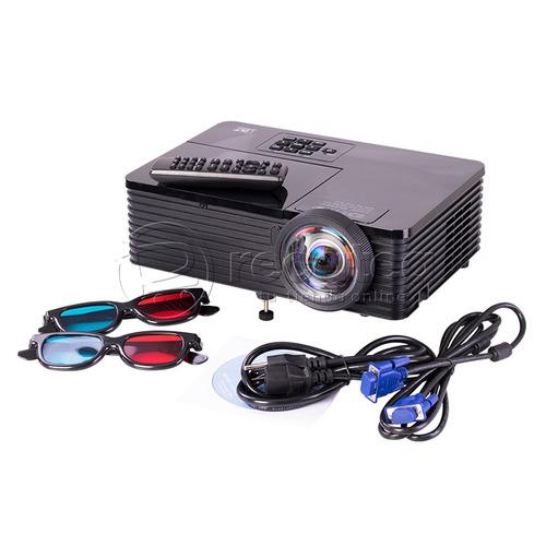proyector led 3d s80 súper potente brillo 3500 lumens 300''