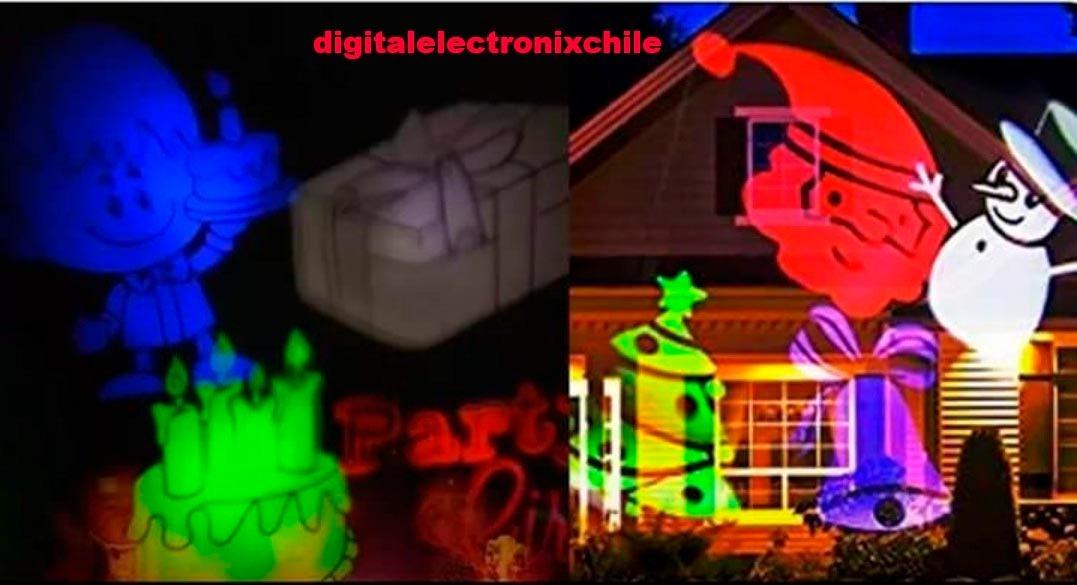 cc2f7099645 proyector led navideño figuras 12 diseños intercambiables. Cargando zoom.