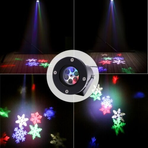 proyector led navideño impermeable 12 láminas intercambiable