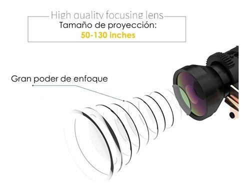 proyector led portátil 2000 lumens con función espejo compatible con iphone android multipuertos