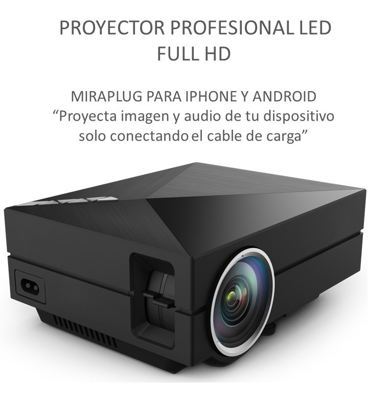 3849ddd5acb Proyector Led Portatil Miraplug Para Android iPhone Maletin ...