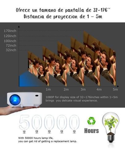 proyector led proyector hd portátil 1800 lumens multipuertos