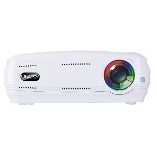 proyector led uhappy lm cine casa cr ayuda hdmi usb blanco