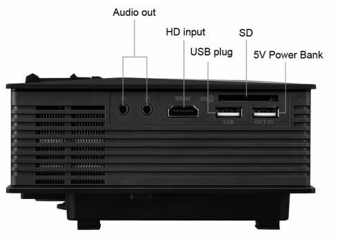 proyector led unic hd 800x480 3d wifi celular iphon 1200 lum