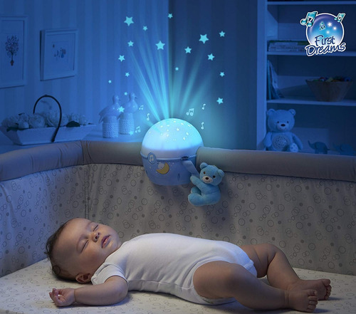 proyector luces bebe chicco de cuna next 2 starts niña
