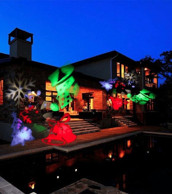 Proyector Luces Navidad Led Con Movimiento Dise 241 O Exterior