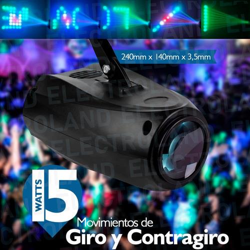 proyector luz cañon led audioritmico dj eventos boliche pubs