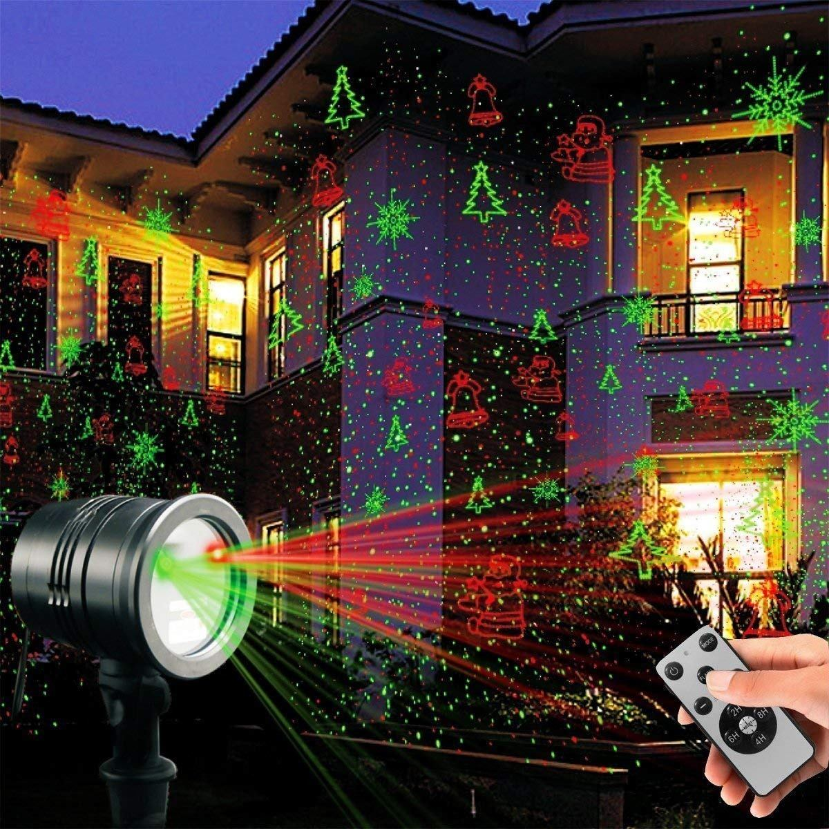 b71475d0904 Proyector Luz Láser Decoración Navidad Hogar Exterior Fiesta ...
