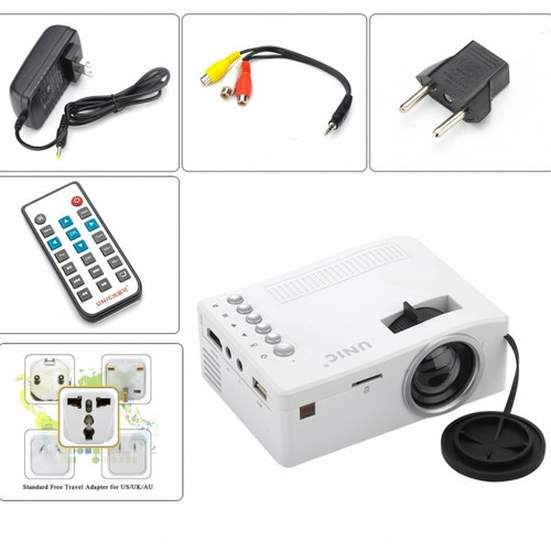 proyector mini hdmi led portatil uc18 usb vga hd 48 lumens