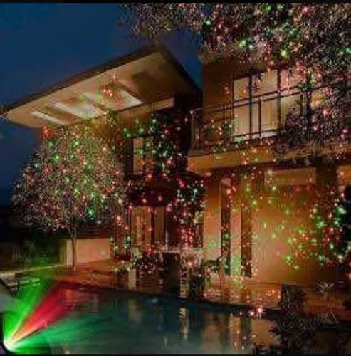 proyector navideño con luz láser. envío gratis!!!