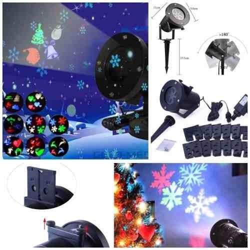 proyector navideño led 12 placas intercambiables multi dise
