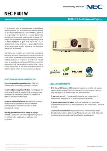 proyector nec p401w