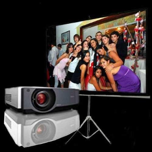 proyector pantalla eventos