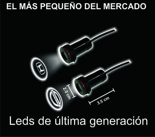 proyector para puertas auto luz led  cortesia todas marcas