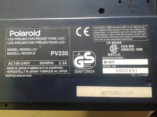 proyector polaroid modelo pv235 solo para repuestos