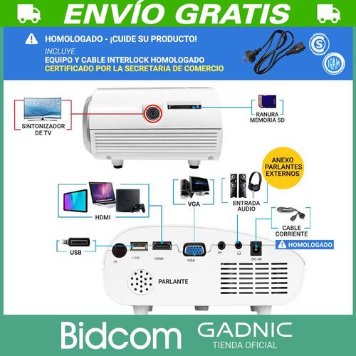 proyector portable 48 lumens gadnic 100 20w cuotas peliculas