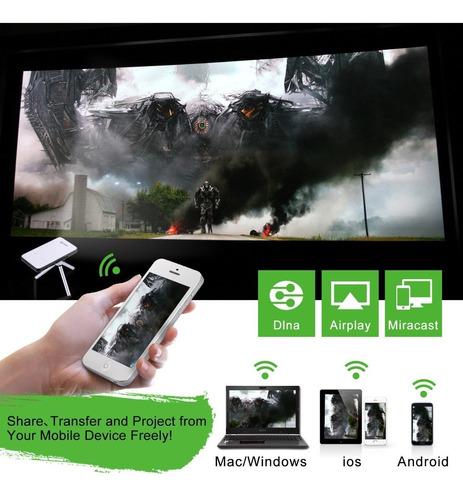 proyector portable de pico, leshp ultrafino del androide wif