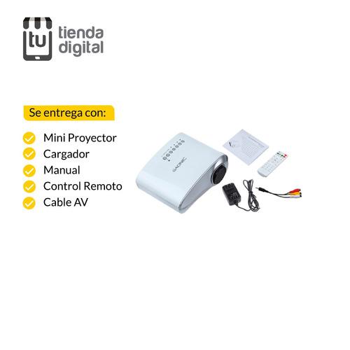 proyector portatil 100p 60l parlantes hdmi usb led tv gadnic