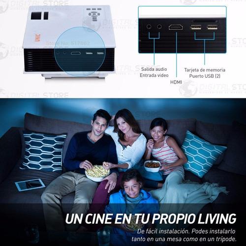 proyector portatil mini led full hd 130'' uc40 hdmi av usb