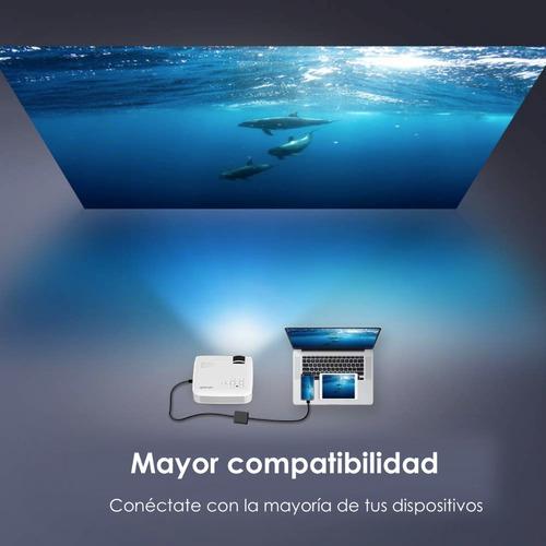 proyector profesional led función espejo wifi compatible android y iphone hd 2200 lumens maletin incluido