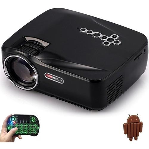 proyector profesional led portatil android wifi full hd multipuertos miniteclado incluido