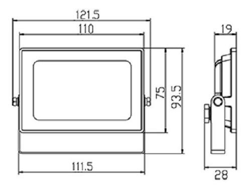 proyector reflector led pegasus 20w 4000/6500k ip65 1650lm