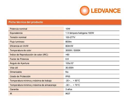 proyector reflector ledvance osram floodlight 10w/850