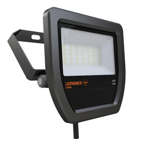 proyector reflector ledvance osram floodlight 30w/830 cálida