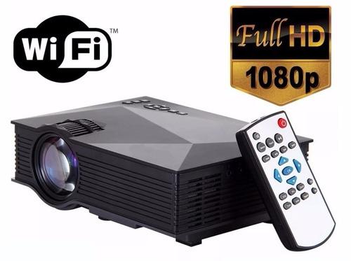 proyector tv led uc46 1200 lumens full hd hdmi wi-fi 130´´