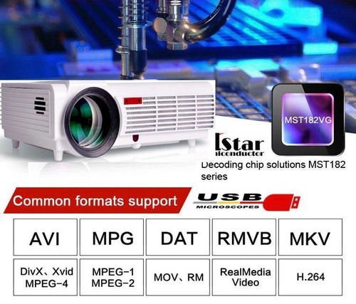 proyector video beam 5000 lumenes led wifi android bluetooth