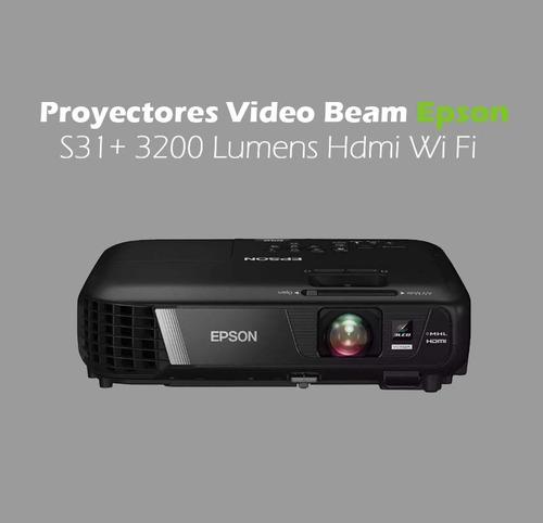 proyectores video beam epson s31+ 3200 lumens hdmi wi fi