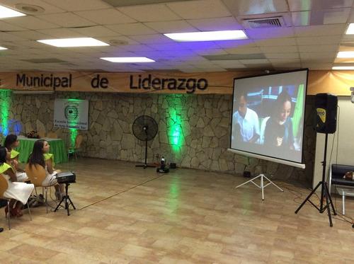 proyectores y pantalla de datashow para eventos en general