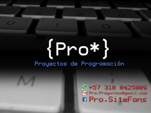 proyectos de programación (java .net c++ pl/sql php cobol )