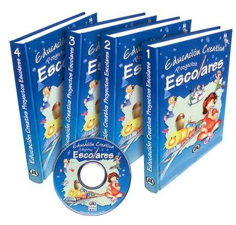 proyectos escolares educacion creativa 4 vols+cd euromexico