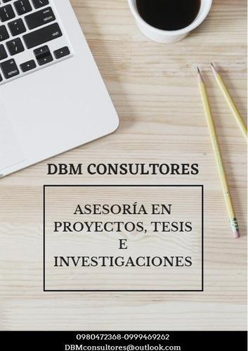 proyectos, investigaciones y tesis