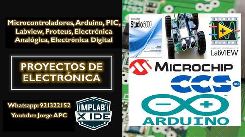 proyectos pic, arduino, electrónica