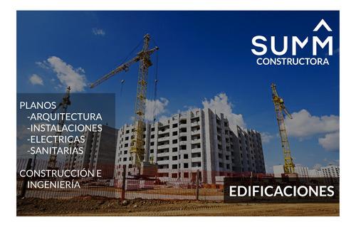 proyectos, planos y edificaciones