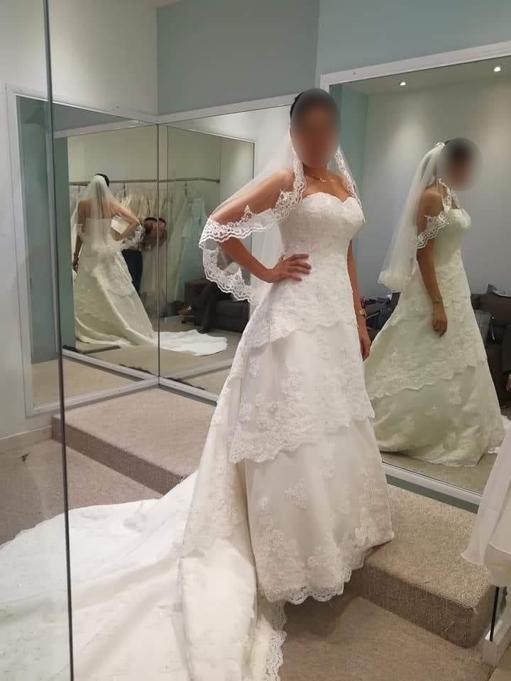 prueba de vestido de novia - novias de españa - $ 1.00 en mercado libre