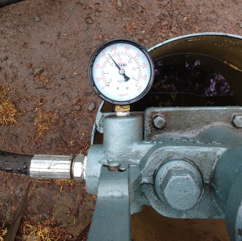 prueba hidráulica compresores  -- inspección periódica --