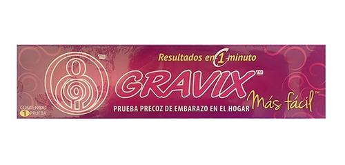 prueba precoz de embarazo respuesta exacta 1 minuto gravix
