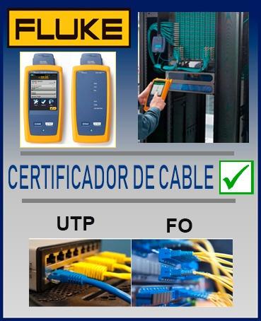 pruebas para certificación de utp y fibra óptica