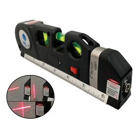 Prumo Nivel Laser Horizontal Fluido Laiser Trena 2,5 Metros