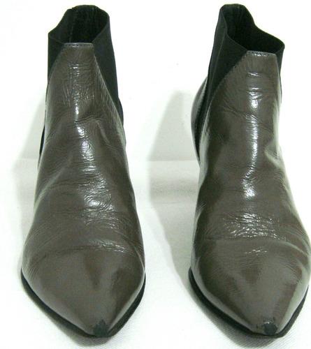 prune botas 38 cuero vacuno verde con elastico (ana.mar)