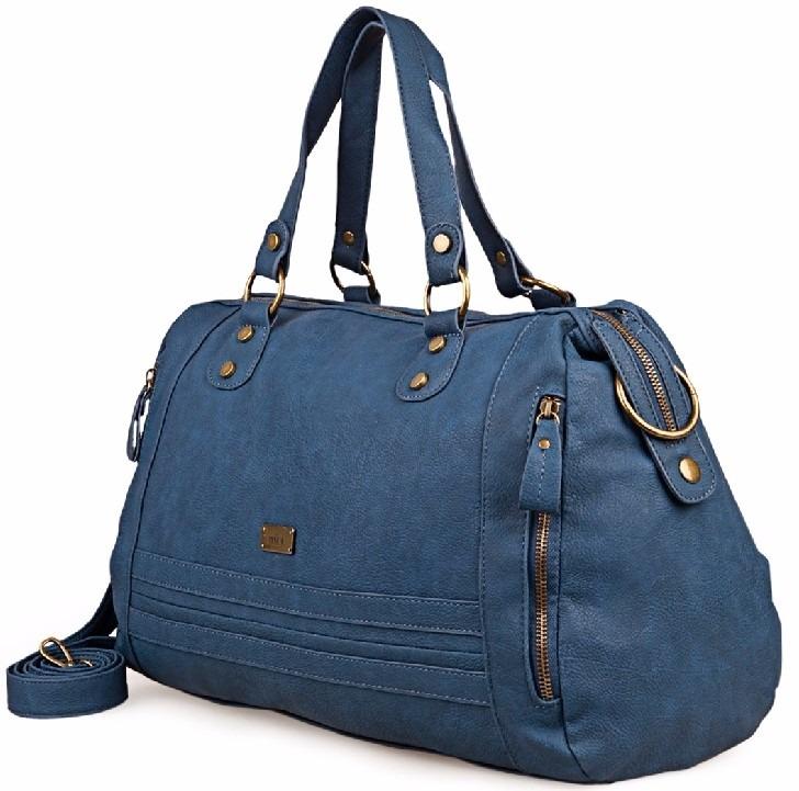 revisa dc304 276d1 Prune Cartera Bolso Grande Con Correa Larga Color Azul