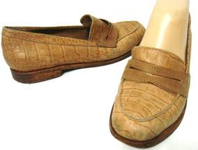 Vaca Lagartoana Prune Zapatos 36 mar Cuero Mocasin Labrado NXwP8n0Ok