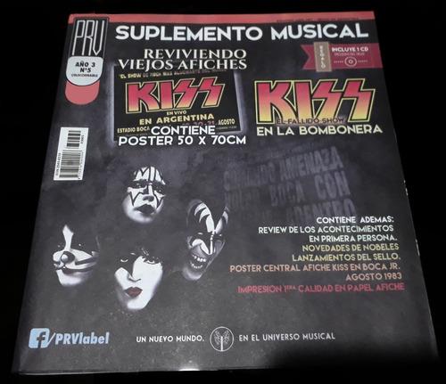 prv-suple musical nº5 - afiche kiss´83 (bombonera) + cd