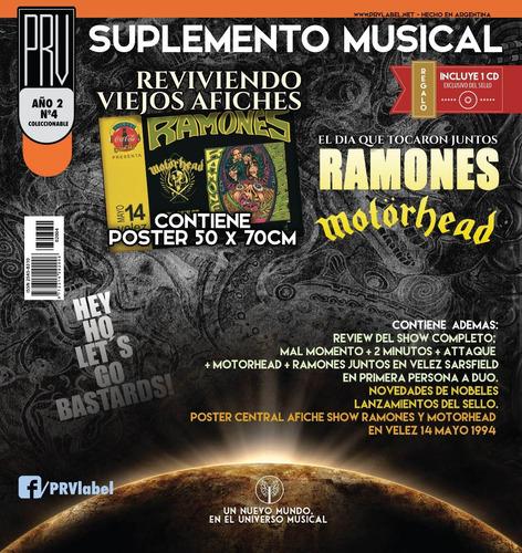 prv -suplemento musical nº4 - afiche ramones+motorhead