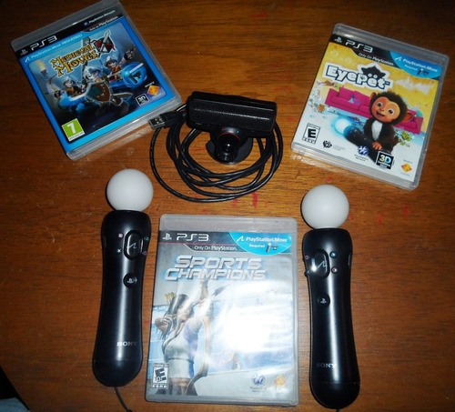 ps move cam + controles + juegos