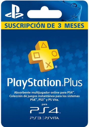 ps plus 3 meses ps4 psn usa entrega inmediata