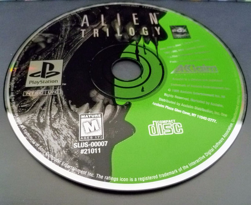 ps1 alien trilogy playstation 1 solo disco